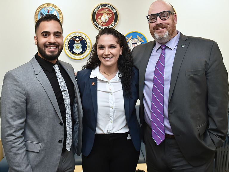 Student veterans in Veterans Success Center