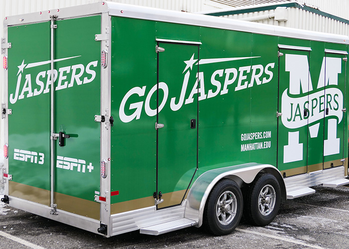 ESPN mobile production unit outside Draddy Gym
