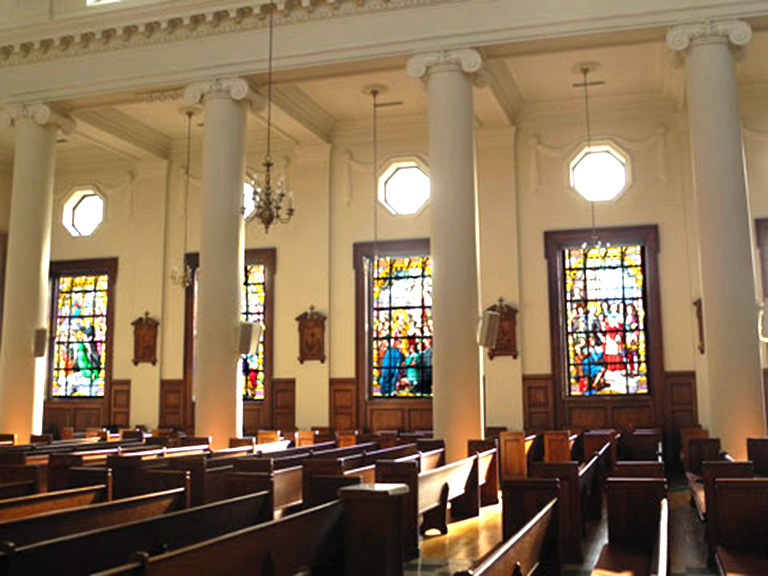 De La Salle Chapel windows
