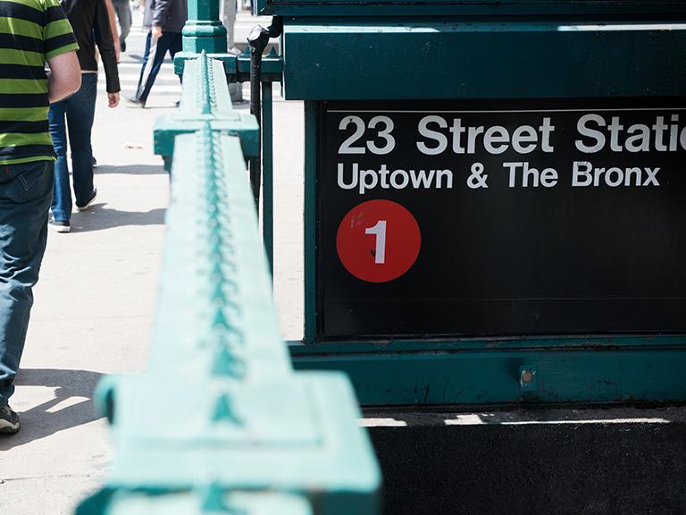 23rd Street subway showing uptown and the Bronx