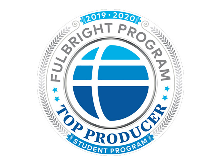 Fulbright top producing institution mark