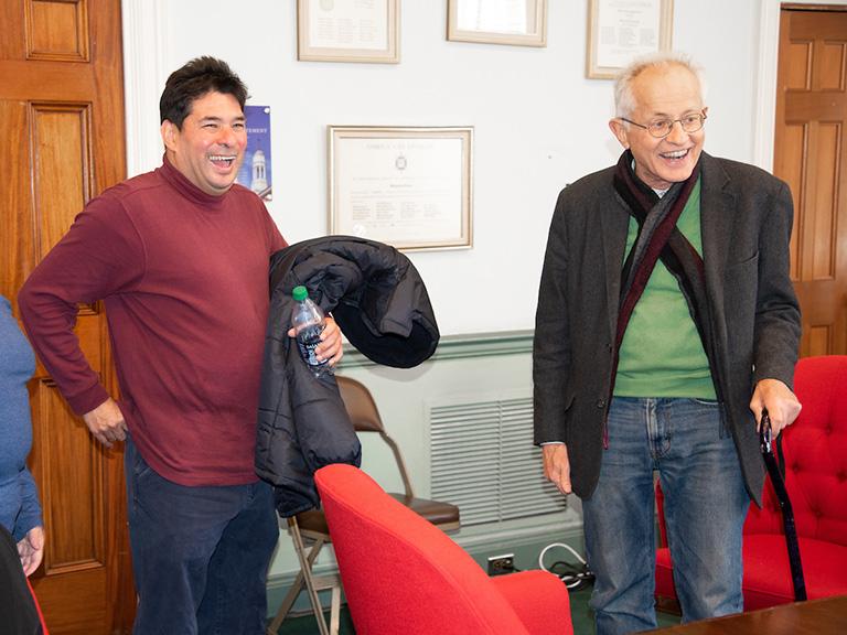 Schubert Coll, Andrew Skotnicki smiling