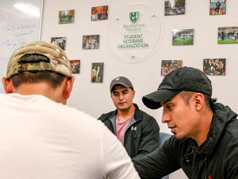 Student veterans in Veterans Center