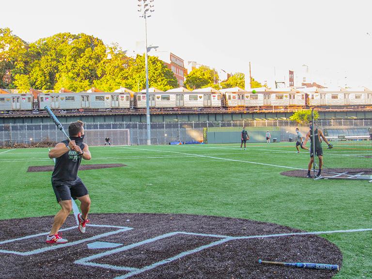 baseball game in gaelic park
