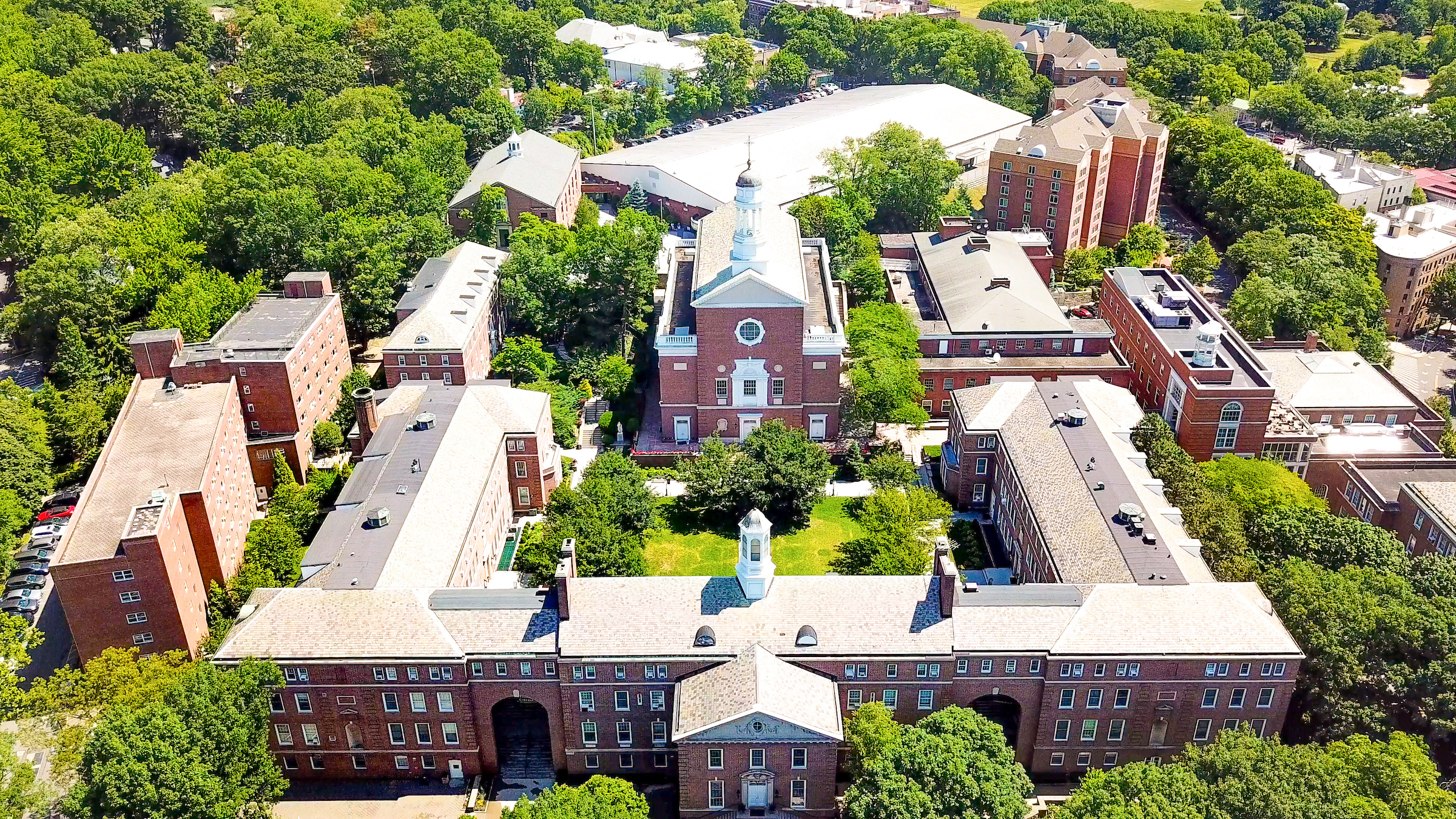 Aerial photograph of Manhattan College main campus.