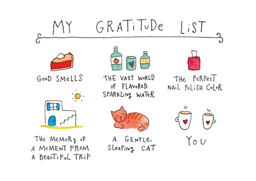 Image of a graph showing gratitude in pictures