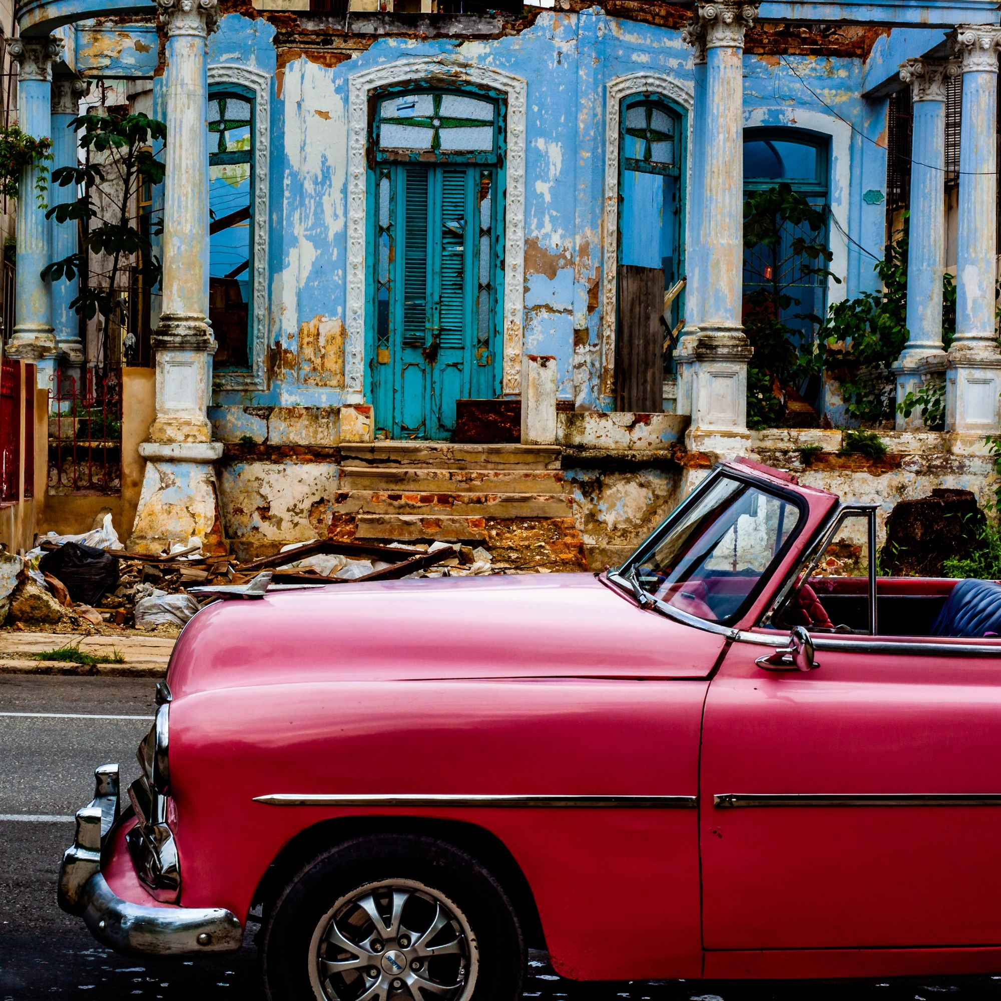An old car on the streets of Havana