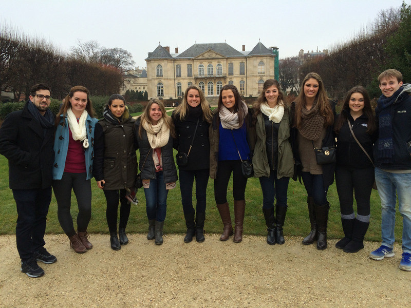 Religious Studies students pose in Paris, France.