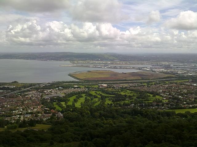 Aerial view of Belfast, Northern Ireland