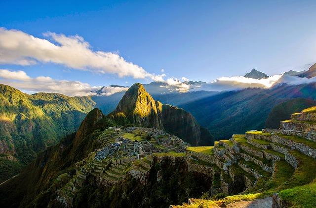 A photo of the ruins at Machu Picchu.